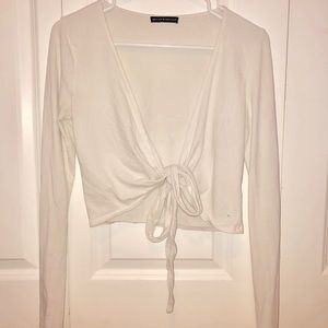 Tops - Brandy Melville white tie top